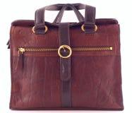 Brown ladies handbag Stock Images
