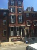 Brown lapida le città-case in Washington Square West storico, Filadelfia, PA quattro Immagini Stock Libere da Diritti