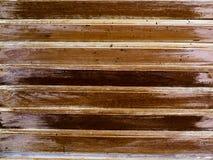 Brown lath drewniany wzór Fotografia Stock