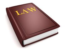 Brown law book Royalty Free Stock Photography