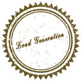 Brown LEAD GENERATION grunge stamp Royalty Free Stock Photo