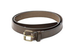 Brown leater belt for men Royalty Free Stock Photos