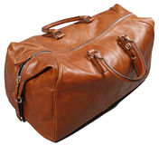Brown leathe bag Royalty Free Stock Photos