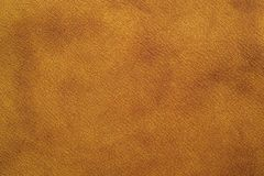 Brown leather. Furniture upholstery leather of brown color Royalty Free Stock Photo