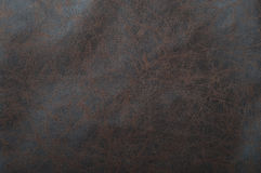 Brown leather. Close up of a brown leather texture Royalty Free Stock Photos