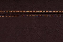 Brown Leather, A Background Royalty Free Stock Photography