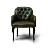 Brown Leather armchair. Isolated on white background Royalty Free Stock Images