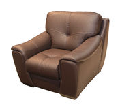 Brown leather armchair Royalty Free Stock Photo