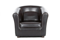 Free Brown Leather Armchair On White Royalty Free Stock Photography - 12214507