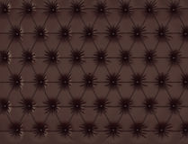 Brown leather background with buttons. 3d render. Ing Stock Photos