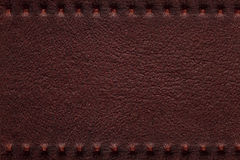 Brown leather background Royalty Free Stock Photos