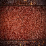Brown leather background Stock Images