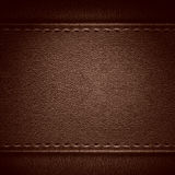 Brown leather background Stock Image