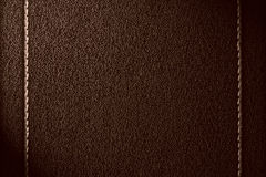 Brown leather background Stock Photography