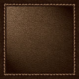 Brown leather background Royalty Free Stock Photography