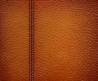 Brown leather background. Royalty Free Stock Photo