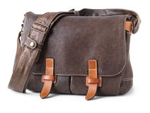 Brown leather bag Royalty Free Stock Photo