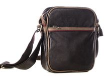 Brown leather bag Royalty Free Stock Image