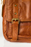 Brown leather bag Royalty Free Stock Photos