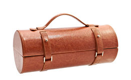 Brown leather bag for cosmetic or jewelry Stock Image