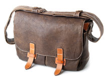 Free Brown Leather Bag Isolated Royalty Free Stock Photos - 17090048