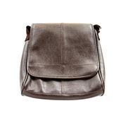 Brown leather bag isolated on white background Royalty Free Stock Images
