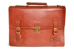 Brown leather bag Stock Photography