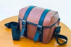 Brown leather bag Stock Photos