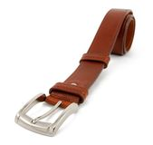 Brown leather belt Royalty Free Stock Image
