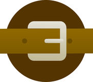 Brown leather belt and buckle illustration Royalty Free Stock Image