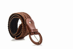 Brown leather belt for female. Royalty Free Stock Photography