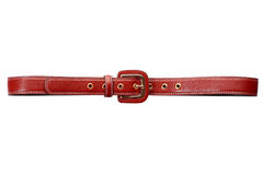 Brown leather belt. Isolated Stock Photography