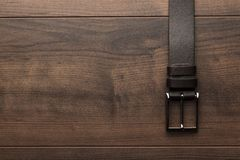 Brown leather belt for men Royalty Free Stock Image