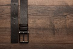 Brown leather belt for men Stock Photography