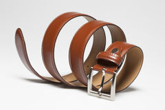 Brown leather belt Stock Photos