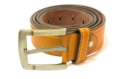 Brown leather belt Royalty Free Stock Photos