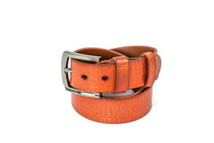 Brown leather belt Royalty Free Stock Photo