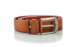 Brown leather belt Stock Image