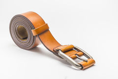 Brown leather belt. Royalty Free Stock Photography