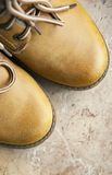 brown leather boot and laces Stock Image
