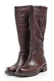 Brown leather boots Stock Photography