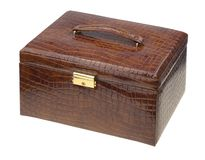 Brown leather box Royalty Free Stock Photo