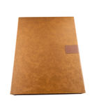 Brown leather box for anythings Stock Photography