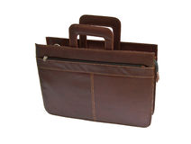 Brown leather briefcase Royalty Free Stock Photo