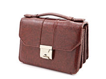 Brown leather briefcase Stock Image