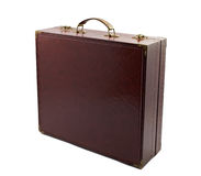 Brown leather briefcase Royalty Free Stock Images