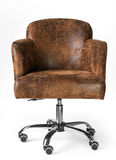 Brown leather business armchair Stock Images