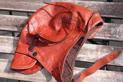 Brown leather cap Stock Images