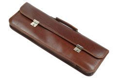 Brown leather case Stock Photo