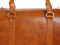 Brown leather case, close Stock Photo
